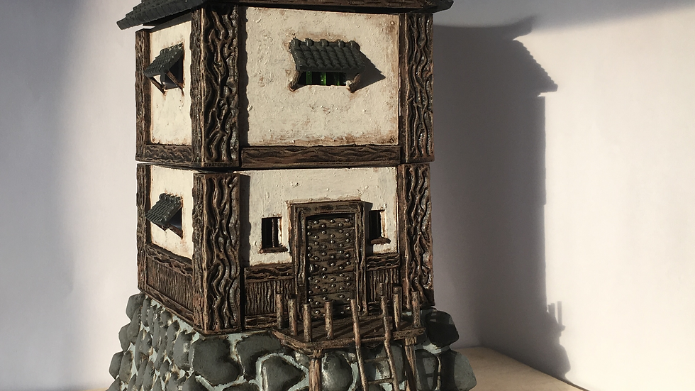 28mm Feudal Japanese Samurai Watchtower