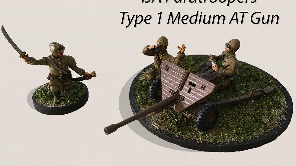 28mm Type 1 47 mm Medium AT Gun with IJA Japanese Crew 3D print model