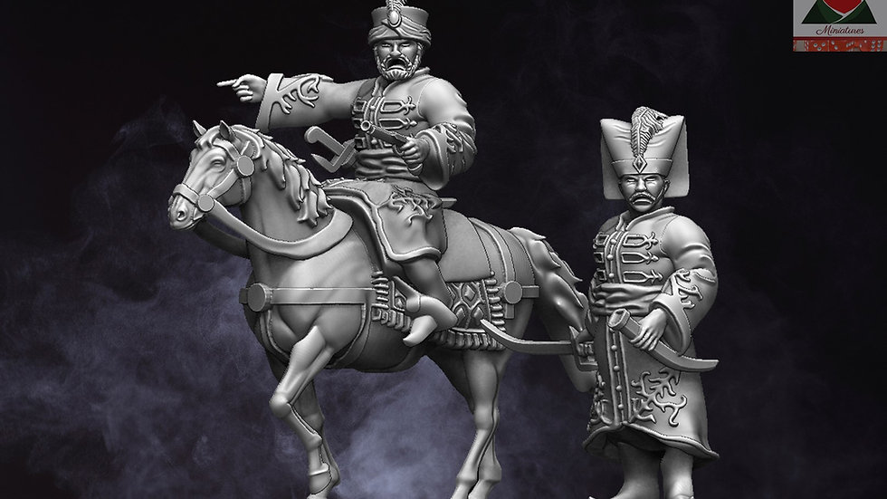 28mm Napoleonic Ottoman Commanders