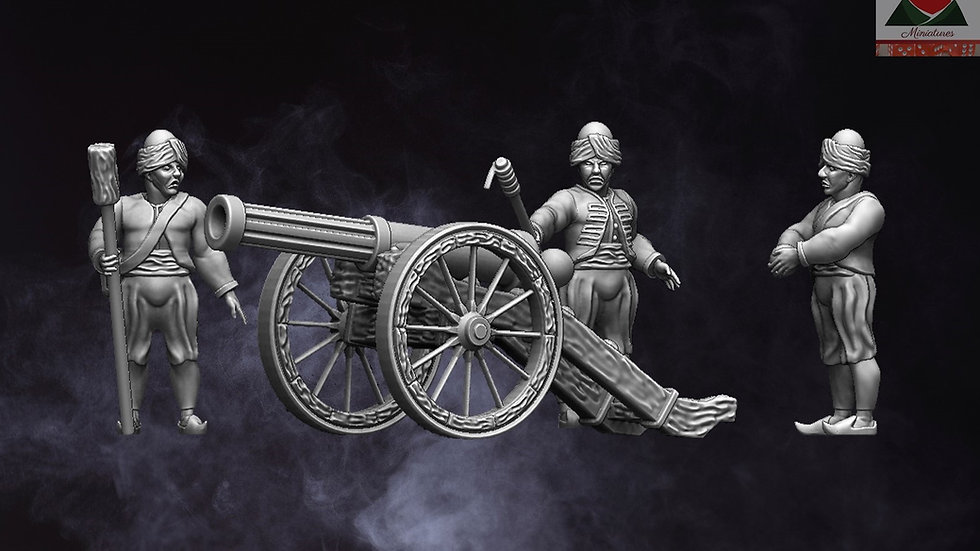 28mm Napoleonic Ottoman Artillery