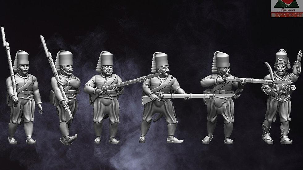 28mm Napoleonic Ottoman Nazim-I Cedit Infantry