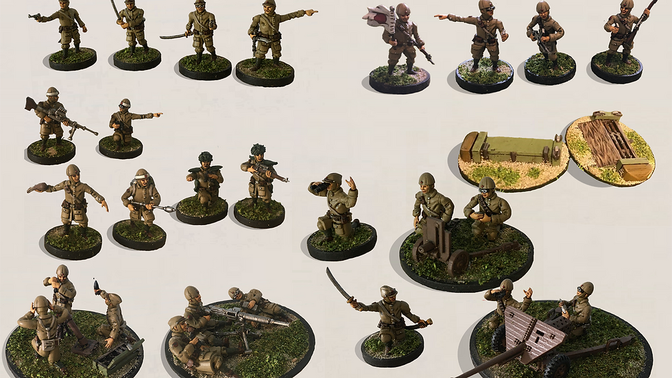 28mm IJA Paratrooper Reinforced Platoon Bundle