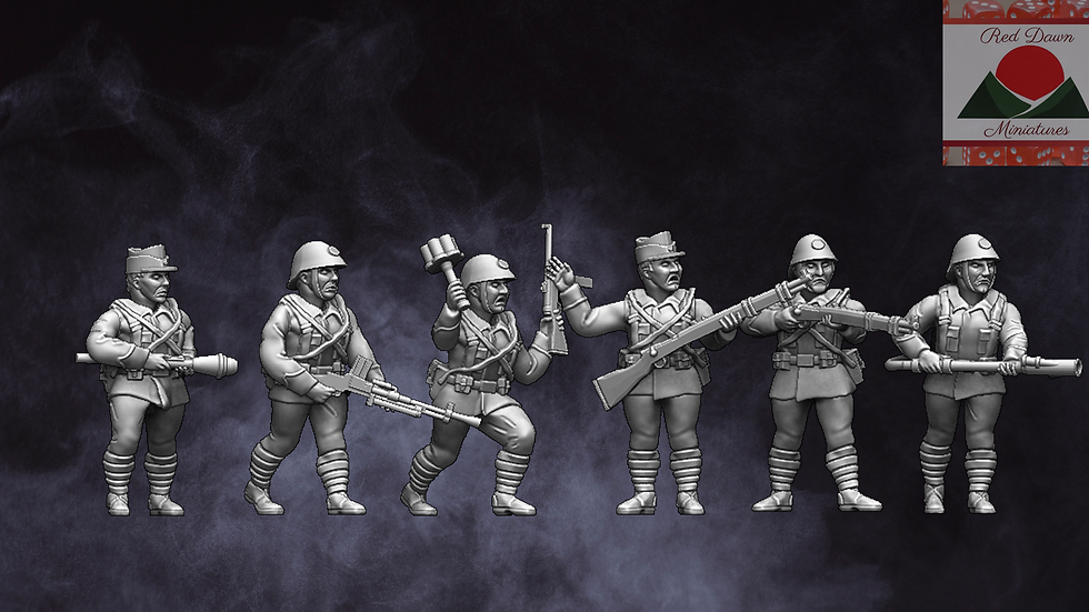 28mm WW2 Romanian Infantry Squad
