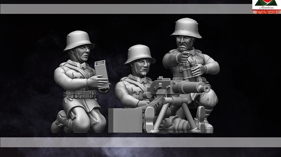 28mm WW1 Austria-Hungarian Machine Gun Team