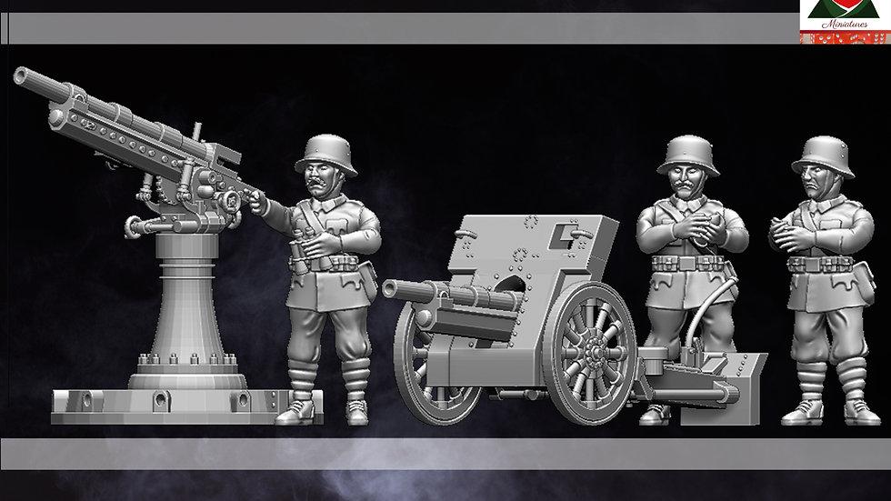28mm WW1 Austro Hungarian Field Gun and AA Gun