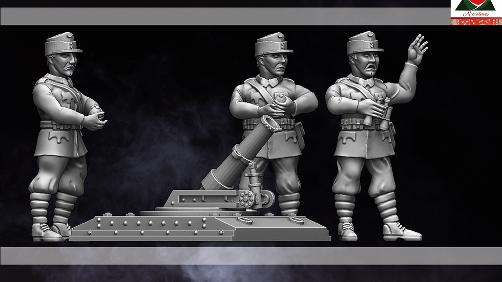 28mm WW1 Austria-Hungarian Trench Mortar Team