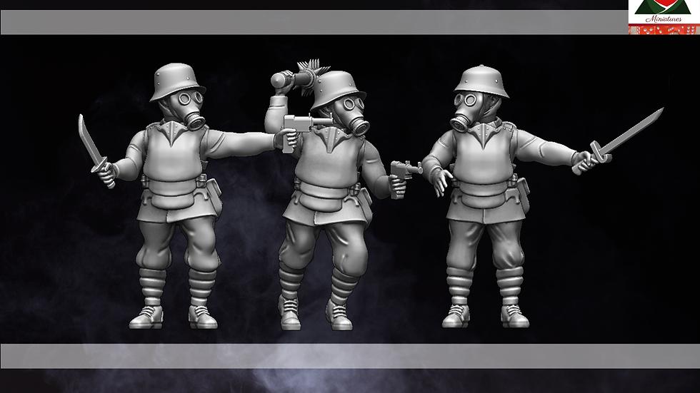 28mm WW1 Austria-Hungarian Trench Raiders