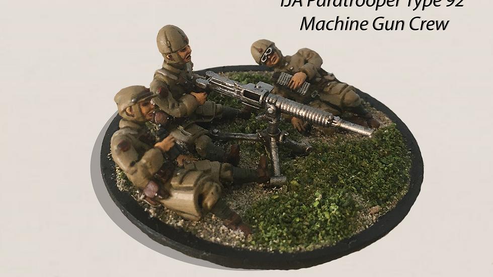 28mm IJA Type 92 Machine Gun with IJA Paratrooper Crew