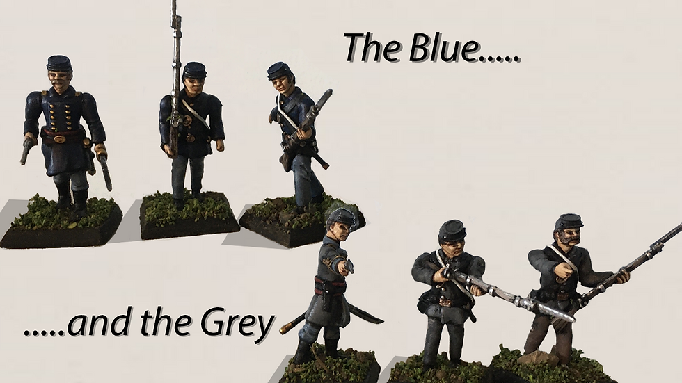 28mm Basic American Civil War Infantry 3D print model