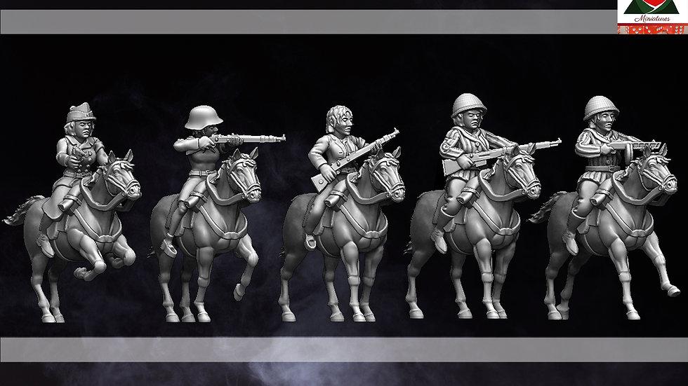 28mm Female Partisan Cavalry WW2