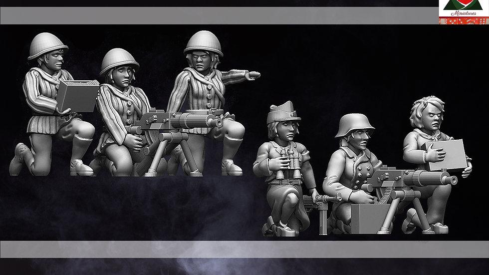 28mm WW2 Female Partisan Machine Gun Team