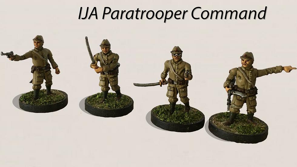 28MM IJA Imperial Japanese Army Paratrooper Officers Multi Pose 3D print model