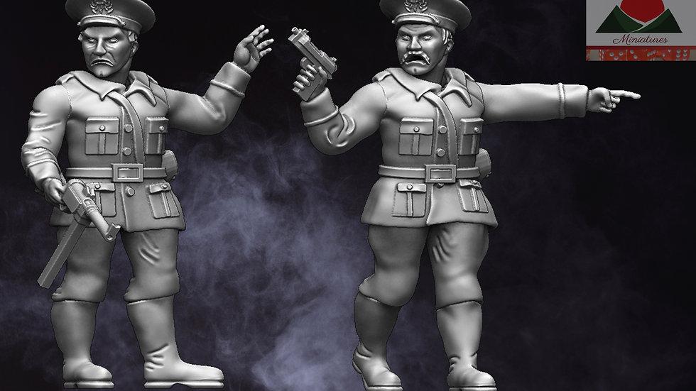 28mm Romanian WW2 Commanders