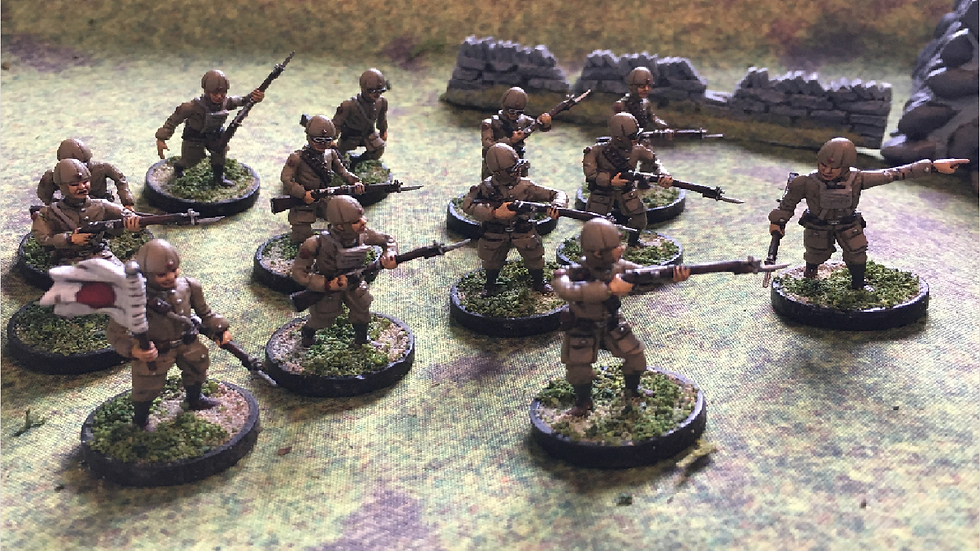 28MM IJA IMPERIAL JAPANESE ARMY PARATROPERS SQUAD WW2 MULTI POSE