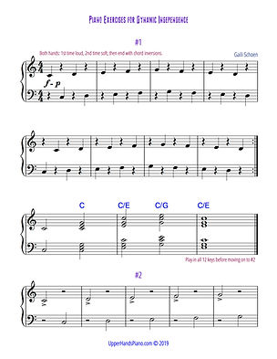 Piano Exercises for Dynamic Independence