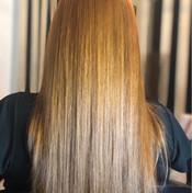 blonde straightened hair