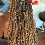 twists with blonde