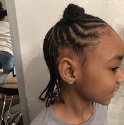 kids braided hairstyle