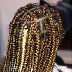 box braids with color added