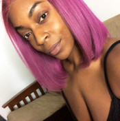 purple colored hair