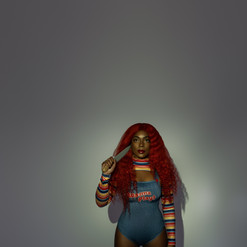 red hair wig photoshoot halloween