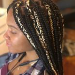 box braids with blonde hair added