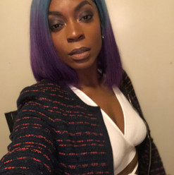 blue purple ombre mermaid wig