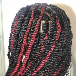 black and red twists
