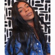 black hair wig black woman photoshoot