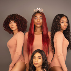 black women hair wigs photoshoot