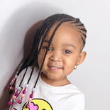 kids braided hairstyle