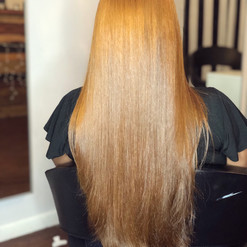 blonde straightened hair
