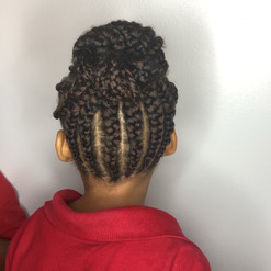 kids braided style into bun