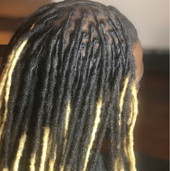 dreadlocs with blonde color