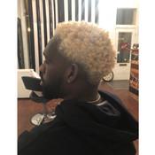 colored mens hair blonde