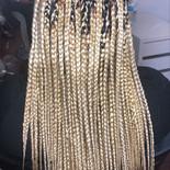 box braids blonde