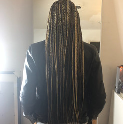 box braids with blonde color