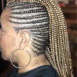 mohawk feed in braids