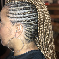 mohawk feed in braids
