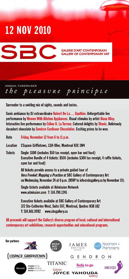The Pleasure Principle fundraiser at SBC gallery of Contemporary art