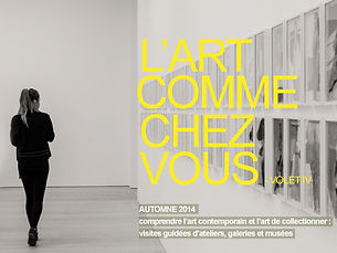 At Home With Art, visites d'art contemporain