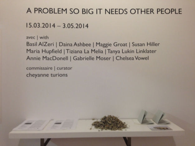 A Problem So Big It Needs Other People, cheyanne turions, Galerie SBC Gallery