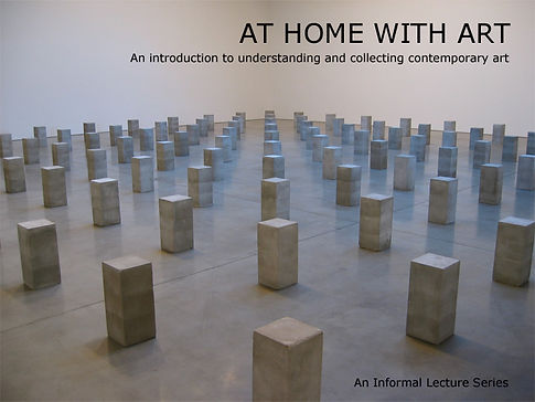 At Home With Art, contemporary art, private collections lecture series with Pip Day and Barbara Clausen