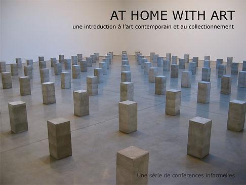 At Home With Art volet I, cours avec Pip Day, introduction à l'art contemporain et au collectionnement
