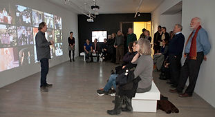 Retour du 8 mm, artist Jeremy Borsos installation vidéo, commissaire Peter White