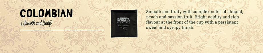 Barista choice coffee in a bag