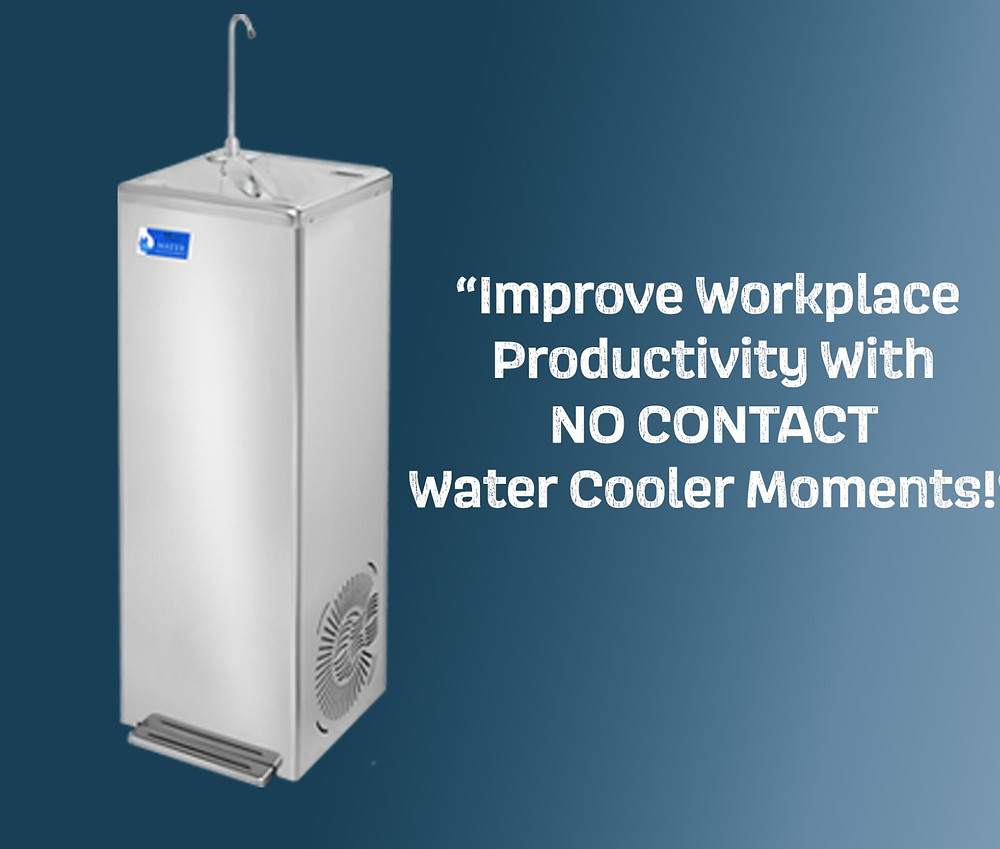 Foot Pedal Control  A hygienic water fountain solution for bottle filling, water is dispensed by activating a foot pedal