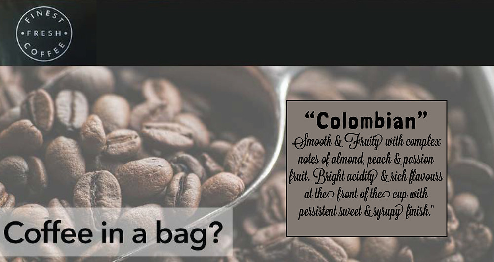 Colombian coffee bags from BaristaChoice