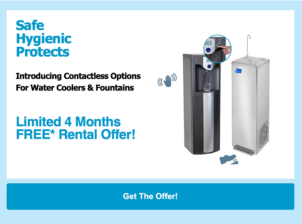 Limited 4 Months FREE Rental Offer - Any Water Cooler Or Water Dispenser