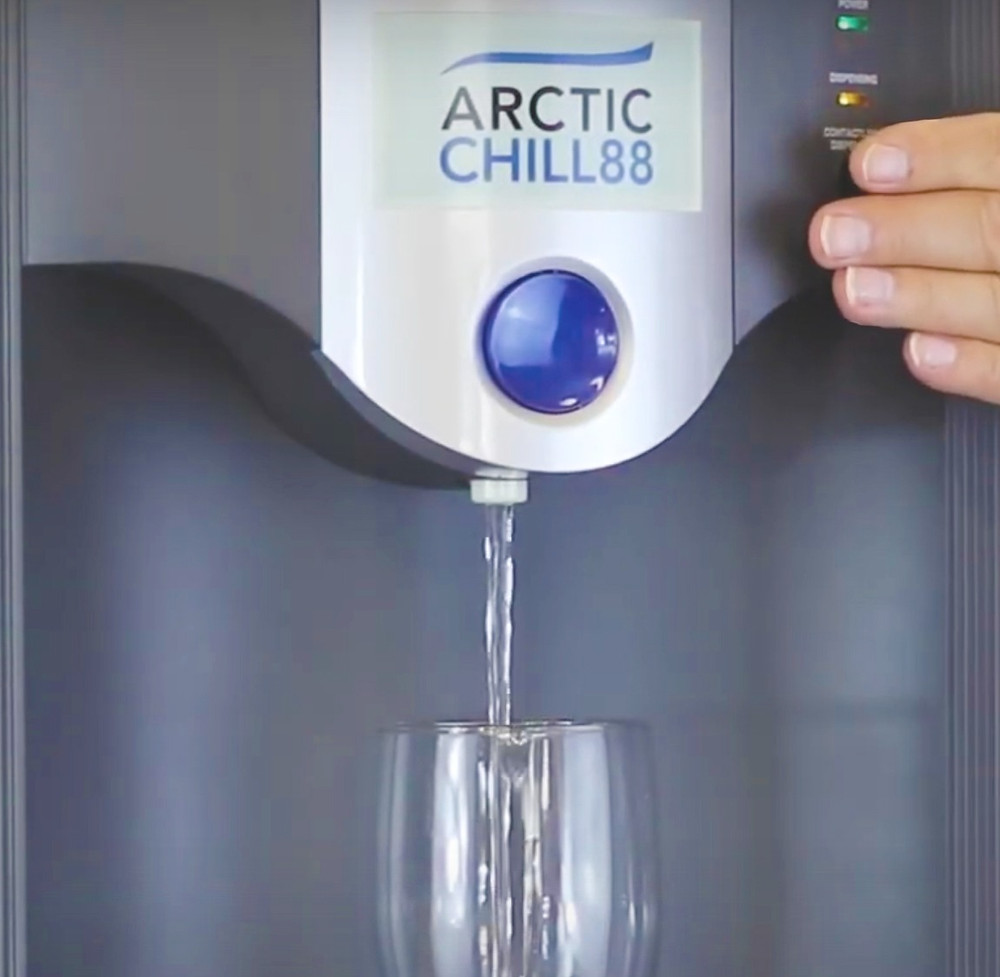 Touch Free Water Cooler The ArcticChill 88 uses an infra-red sensor to activate the water dispense